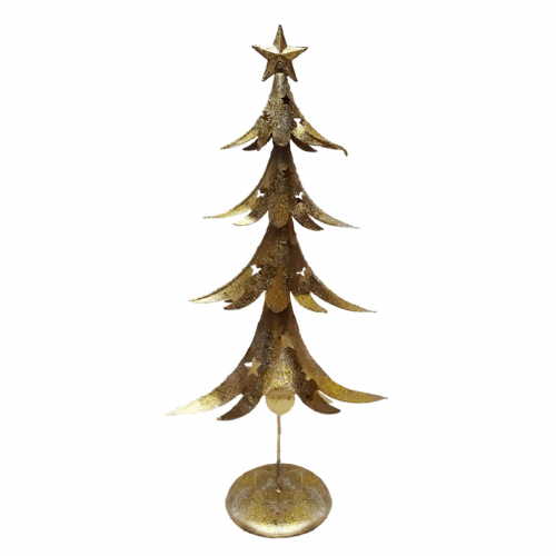 Large Gold Metal Contemporary Christmas Tree - Nordic Style Christmas Decor